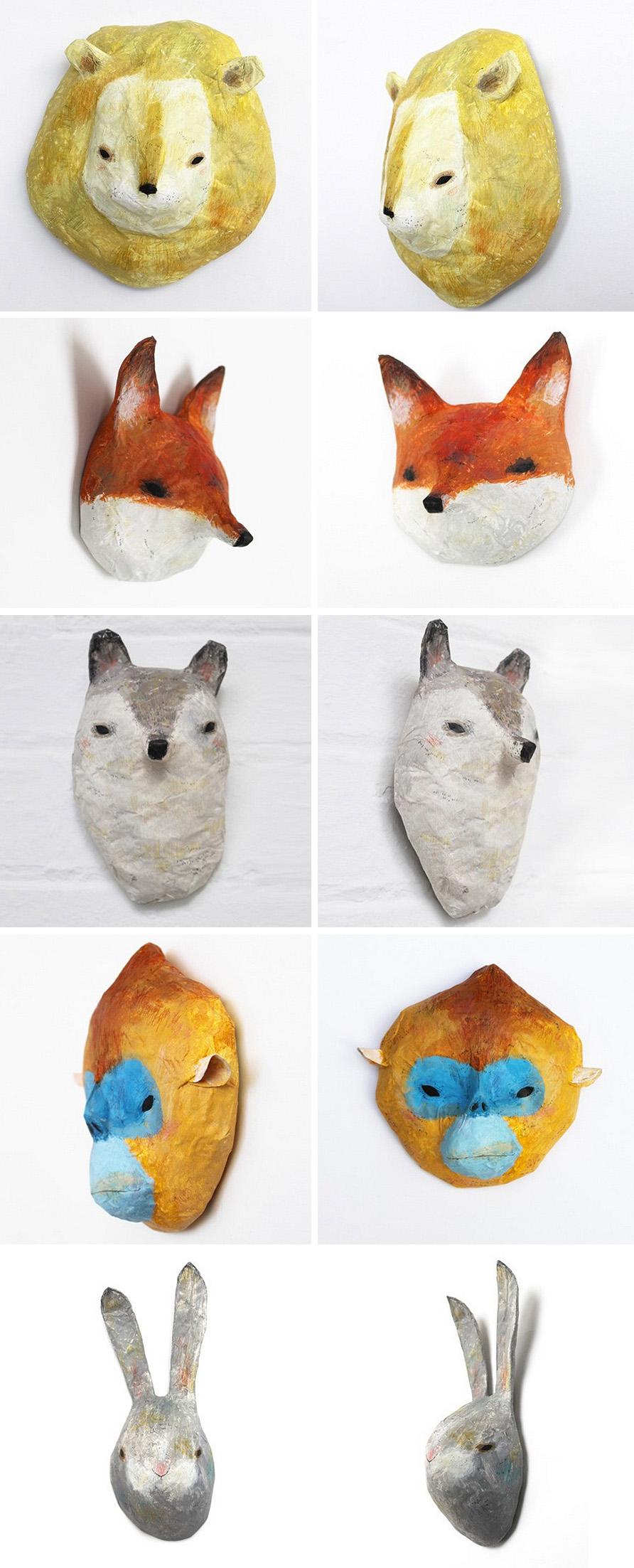 paper mache masks a