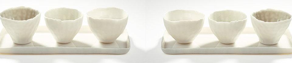 Delicate Porcelains by Doris Bank.
