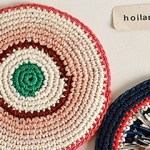 Beautiful Pot Holders by Renilde de Peuter.