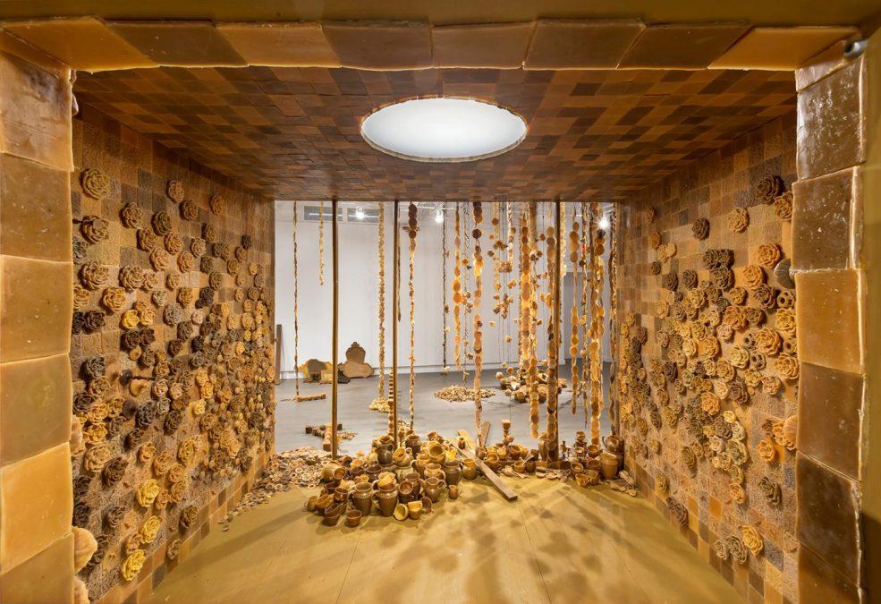 Penelope Stuart's Beeswax Installation