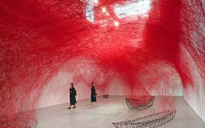 Installations by Chiharu Shiota