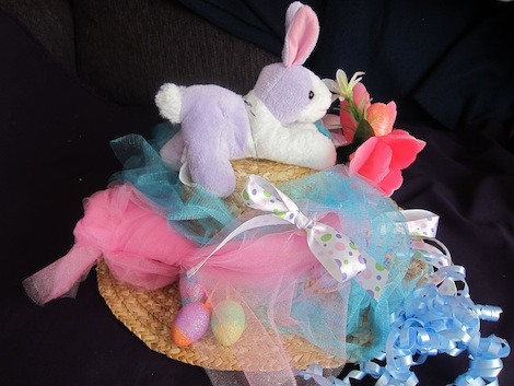Easter bonnet with bunny
