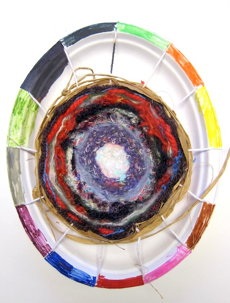 Weaving on paper plate