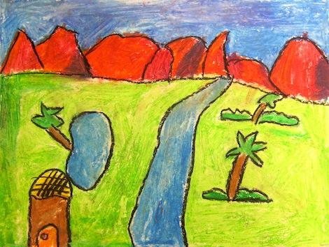 Landscape Oil Pastel For Kids