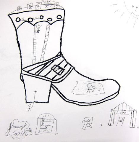 Shoe drawings by 3rd grade