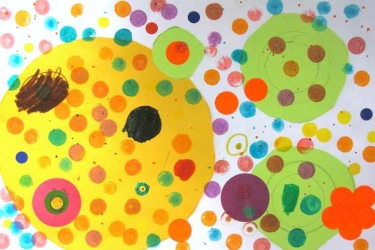 Dot Artwork By Kindergarteners – Art Is Basic