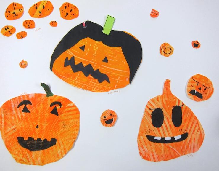 Halloween Pumpkin Painting Art Project for 1st Grade – Art ...