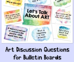 Art Discussion Signs for Bulletin Boards