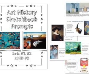 New Set of Art History Sketchbook Prompts:  SET #3