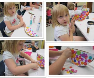 Cardboard Chairs and Preschool Bird Art