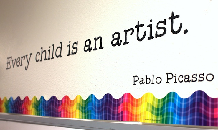 Every child is an artist vinyl quote