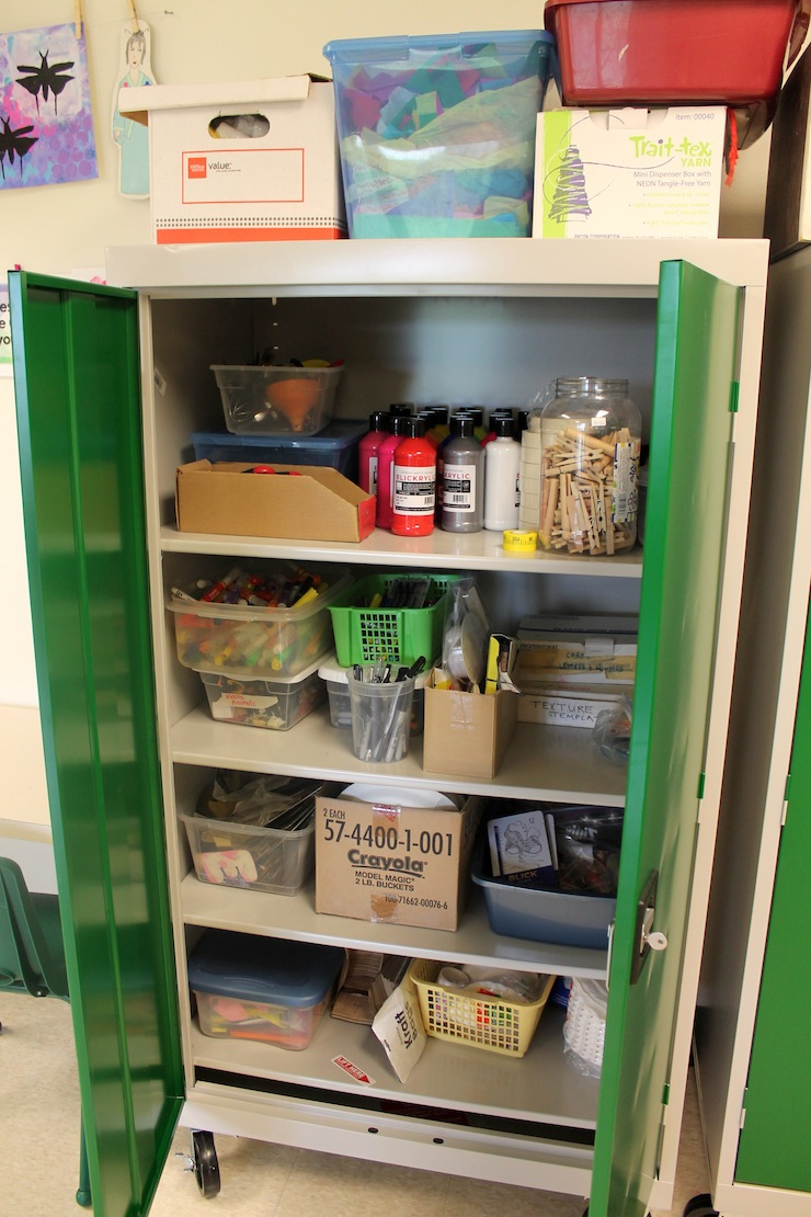 Art Storage Shelf