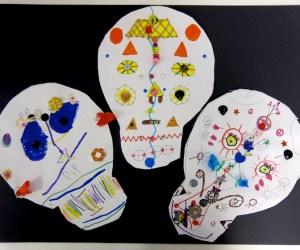 Day of the Dead | Symmetrical Paper Skulls | 1st Grade