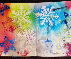 Printing with Christmas Ornaments