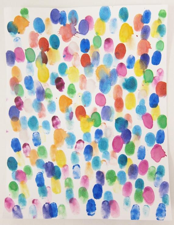 painted fingerprints