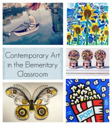 contemporary art in the elementary classroom