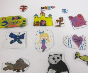 Animal Shrinky Dinks in Summer Art Camp