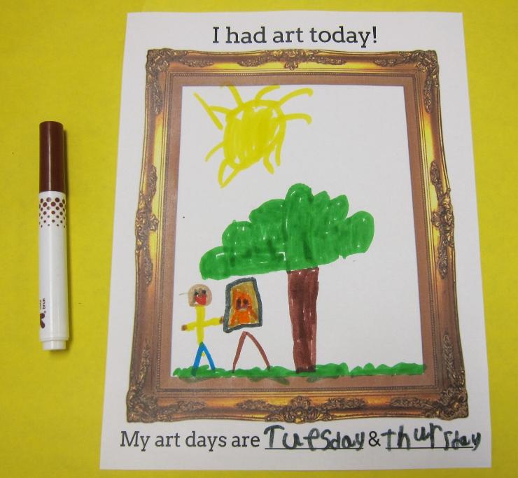 First Day of Art Class (2)