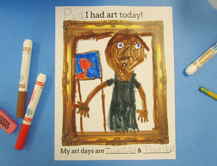 First Day of Art Class