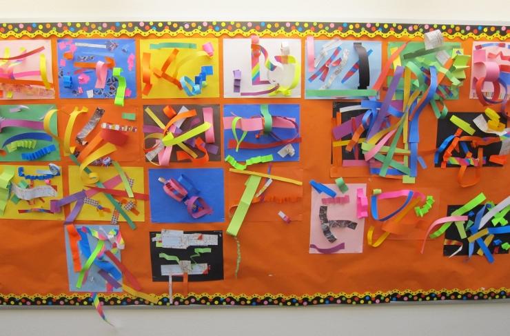 Paper Line Sculptures with Kindergarten (2)