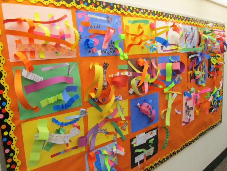 Paper Line Sculptures with Kindergarten