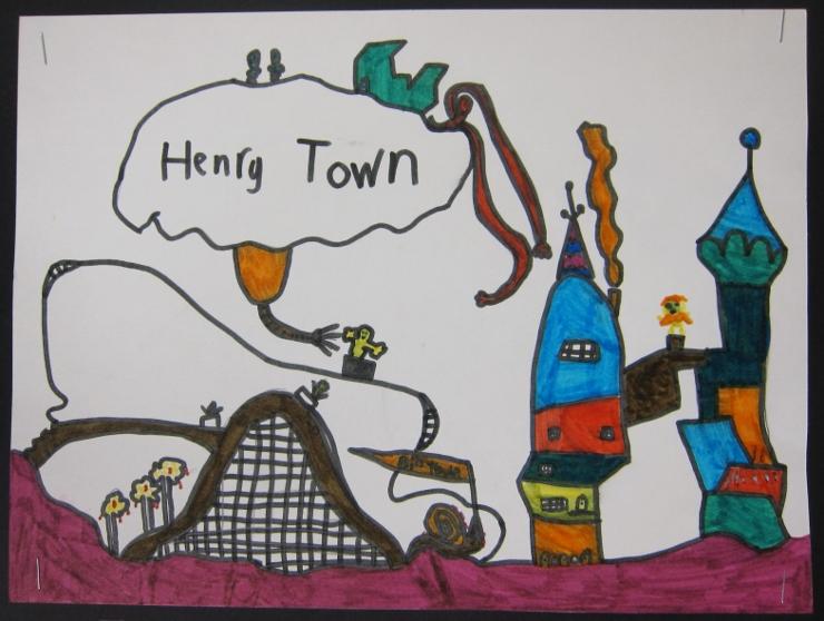 Dr Seuss Inspired Art Project (1)