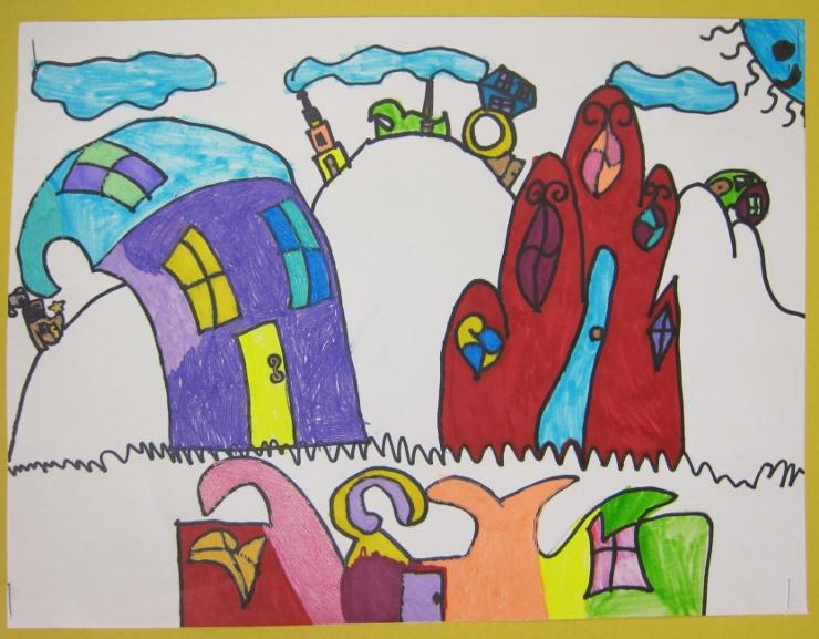 Dr Seuss Inspired Art Project (2)