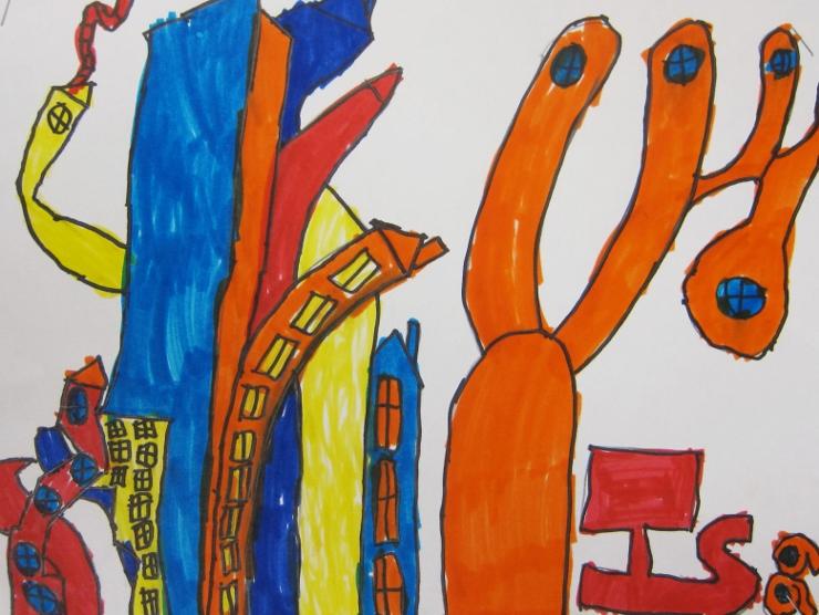 Dr Seuss Inspired Art Project (7)