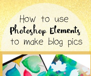 How to Use Photoshop Elements to Make Blog Pics