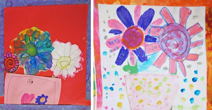 Flowers by First Graders