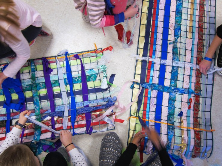 Making a collaborative weaving