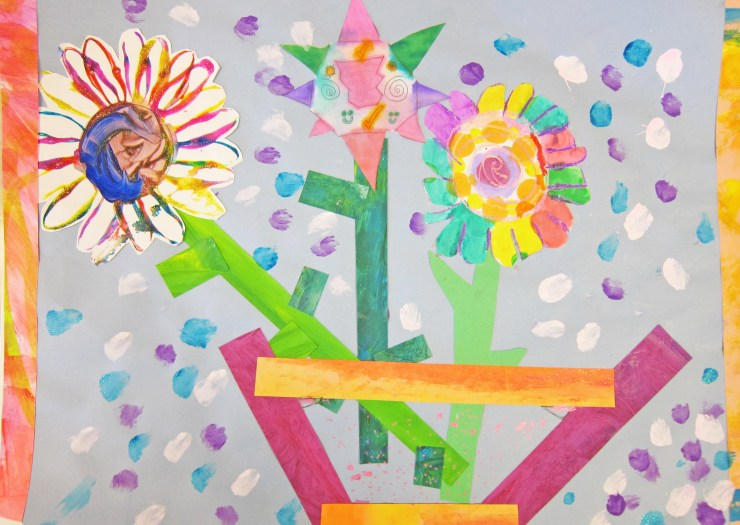 Painted Flower Art Project for Kids