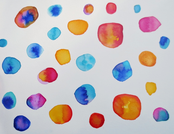Watercolor dots
