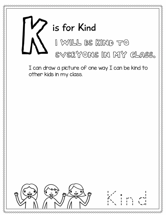 The letter K: K is for Kind