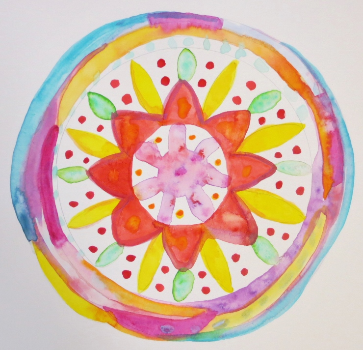 Watercolor Mandala Steps