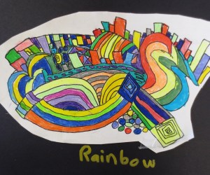 Color Theory Rhythm Drawings