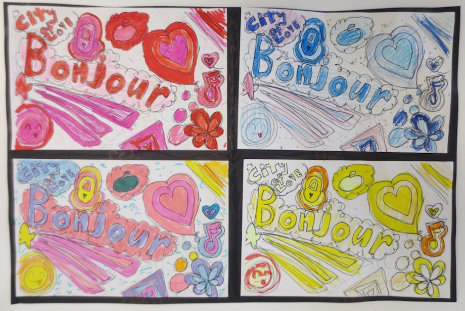 Color Theory And Rhythm Drawings By 3rd Grade Art Is Basic