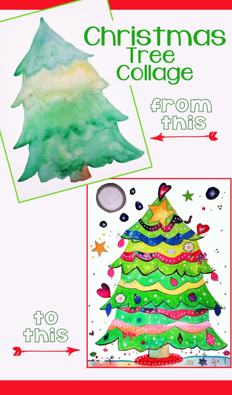 Christmas Tree Collage for Kids
