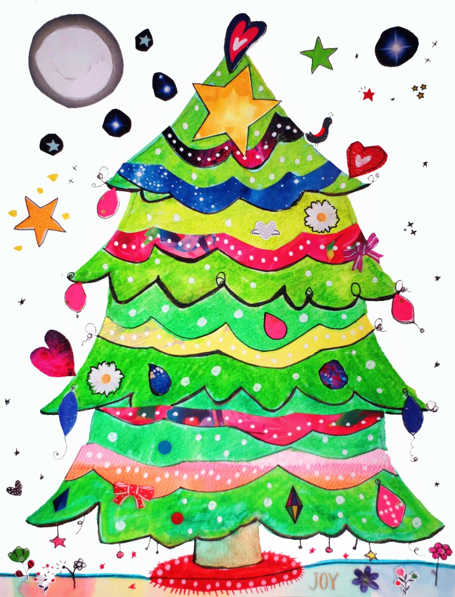 How to Make a Christmas Tree Collage – Art is Basic | An Elementary ...