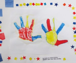 Primary Color Hands for Kindergartners
