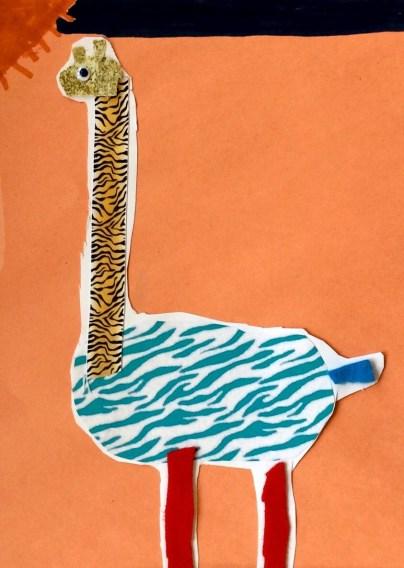 giraffe creature collage