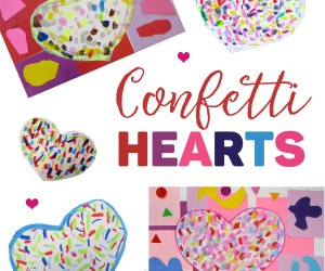 Kindergarten Confetti Hearts for Valentine's Day!