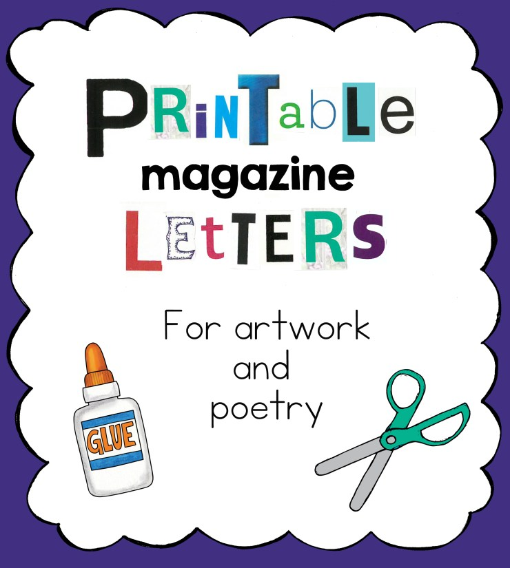 Printable Letters front