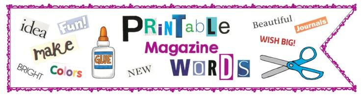 Printable Magazine Words Banner