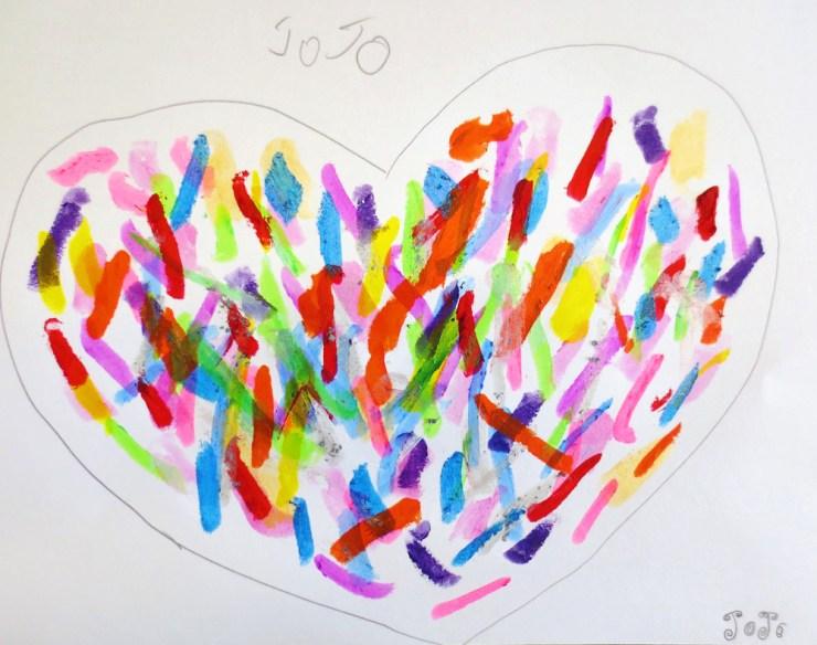 confetti heart valentine