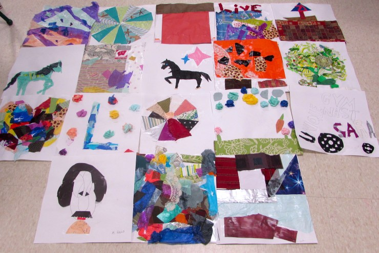 Mixed Media Collages with Kids