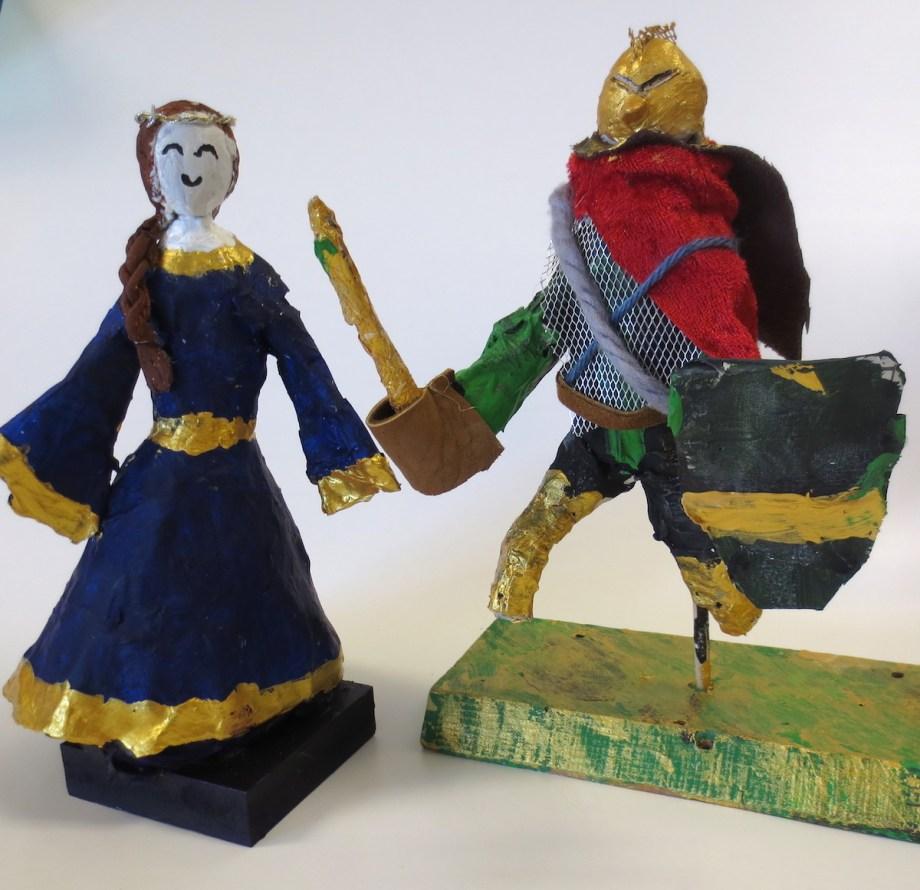00006Paper Mache Knights