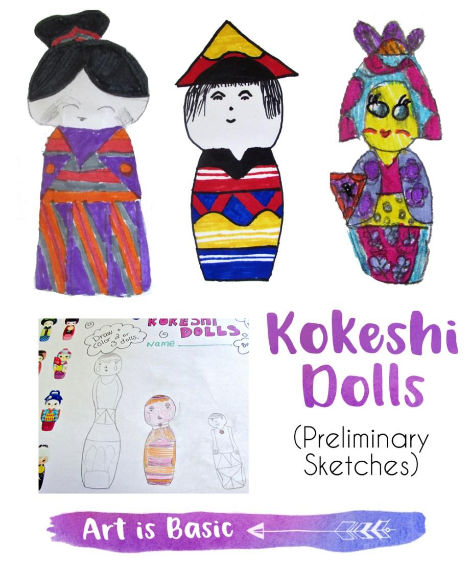 Kokeshi Doll Sketches