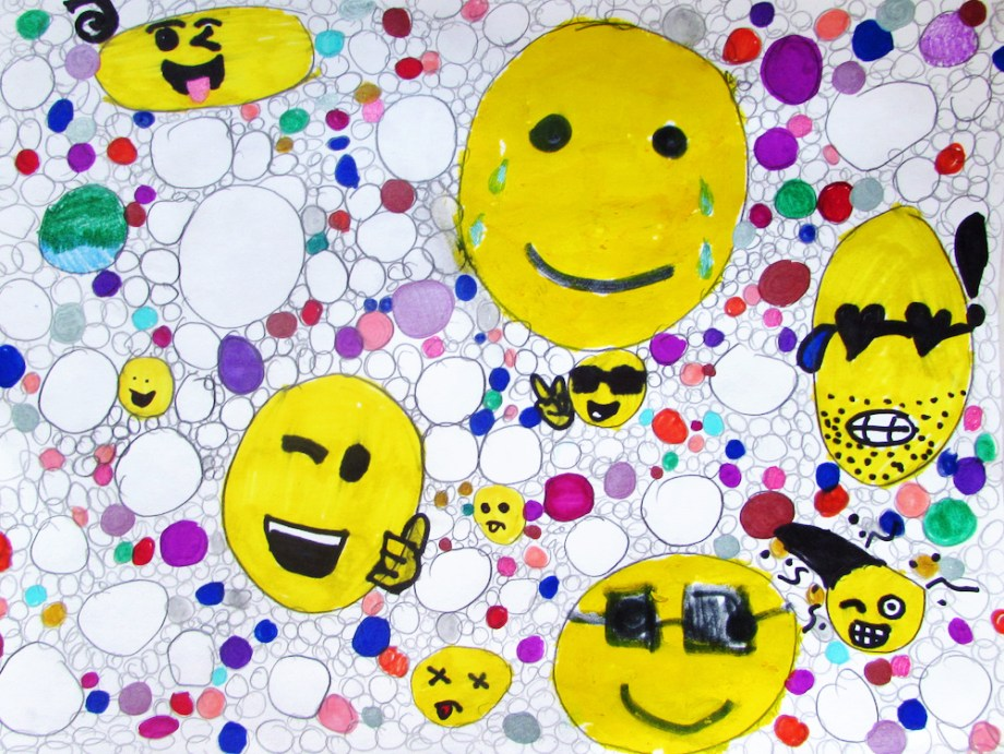 Repeated Emoji Drawing
