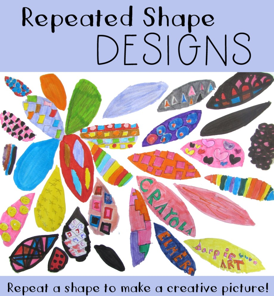 Shapes Designs Art : Repeated shape designs art is basic an elementary